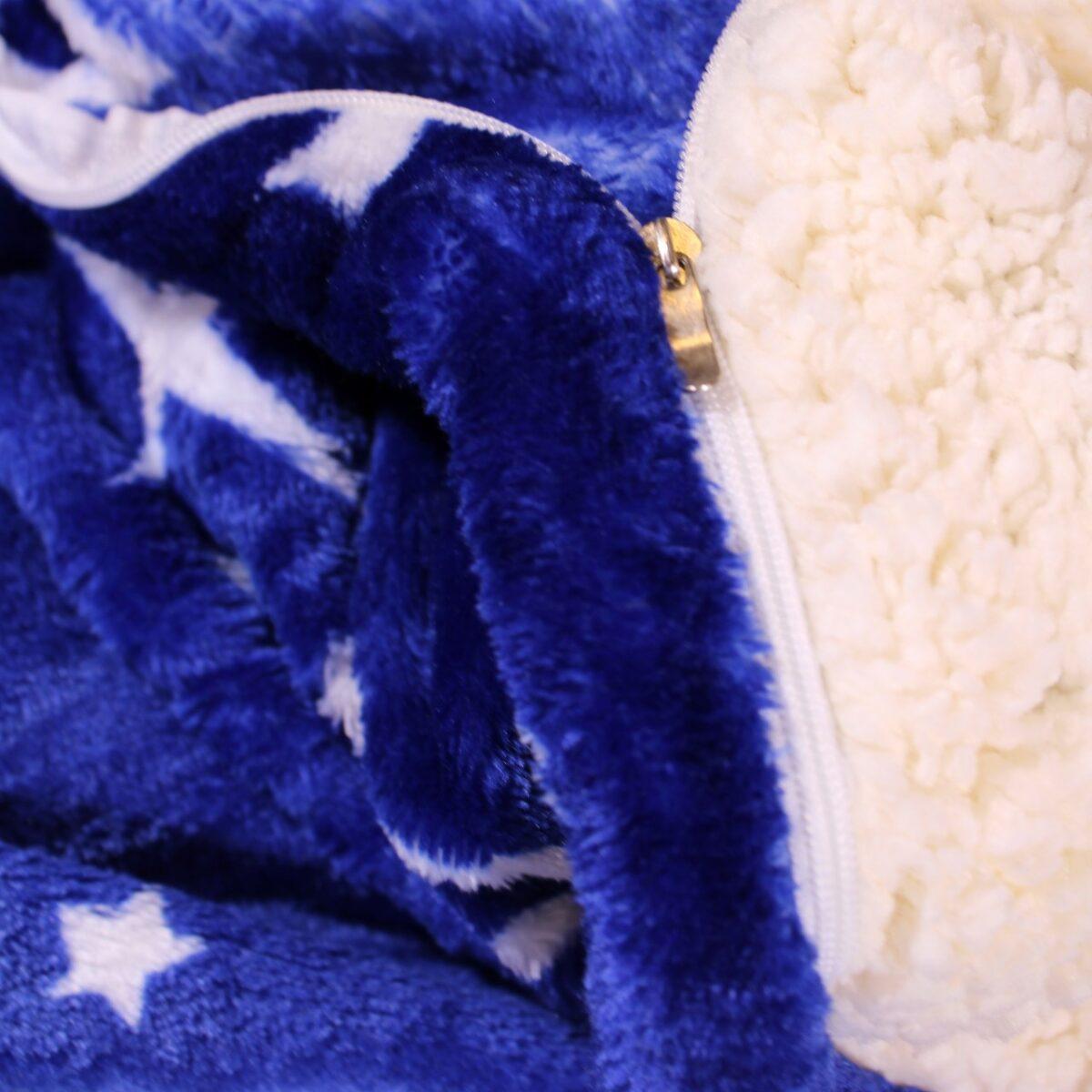 patura cocolino cu stele albastra