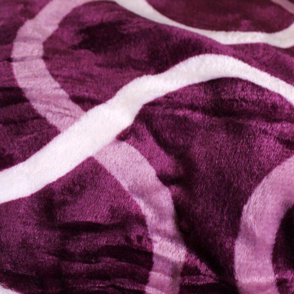 patura cu blanita violet cu cercuri