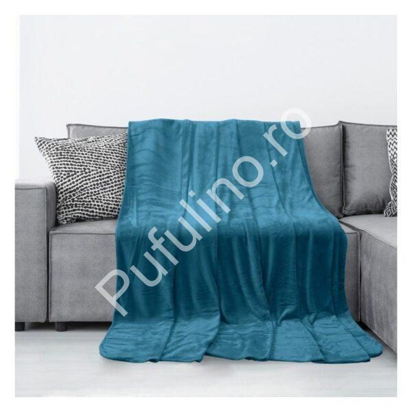 Patura-Cocolino-Pufoasa-neteda-simpla-albastra