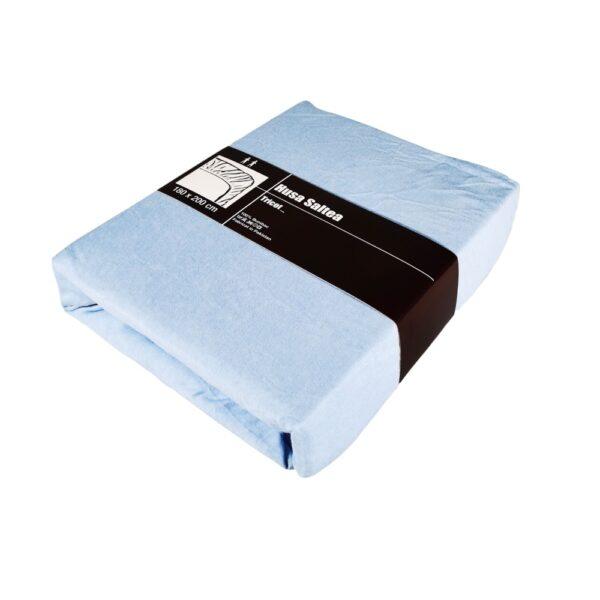 husa de pat bleu cu elastic