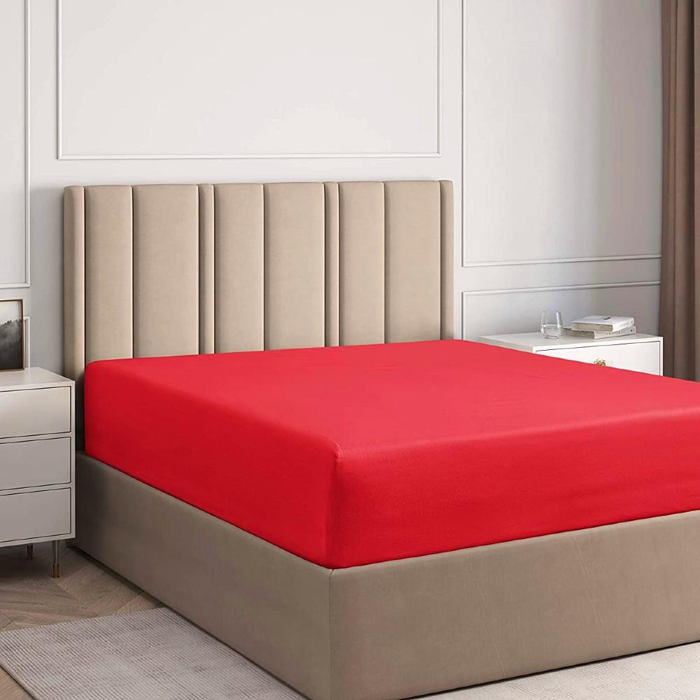husa de pat cu elastic rosie