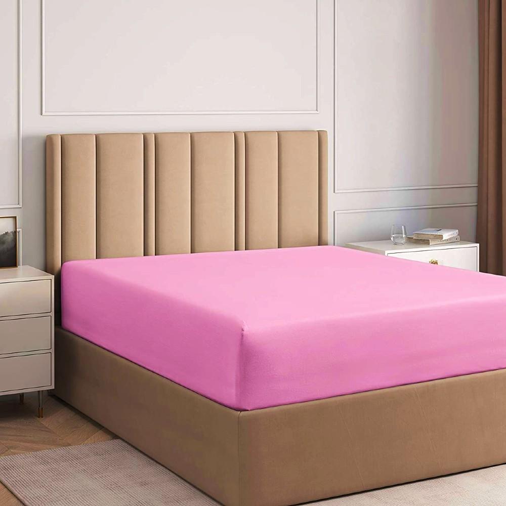 husa de pat cu elastic roz inchis