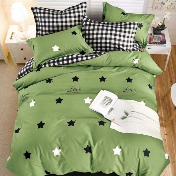 lenjerie verde stelute negre si albe