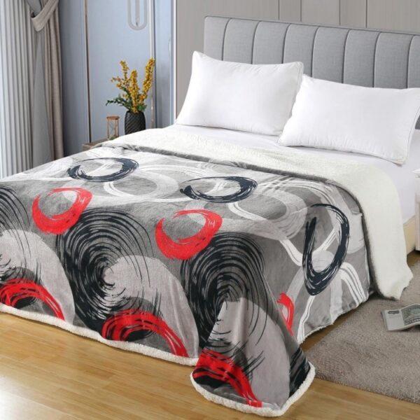 Patura dubla Cocolino cu blanita, Painting, pat 2 persoane - PUF6166