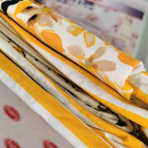 lenjerie bumbac 100% hobby fiesta yellow