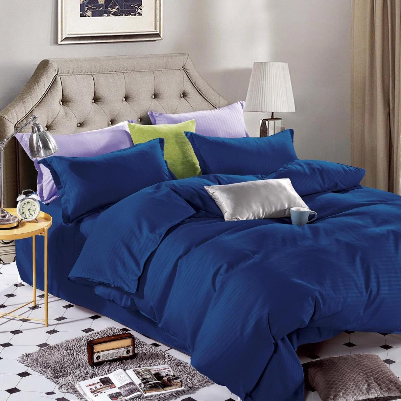 lenjerie damasc albastra