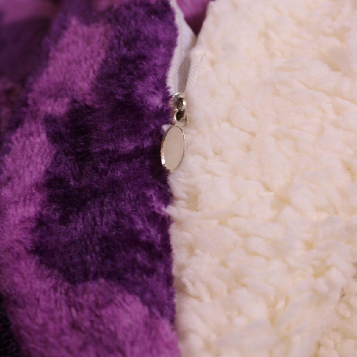 patura cocolino cu blanita violet