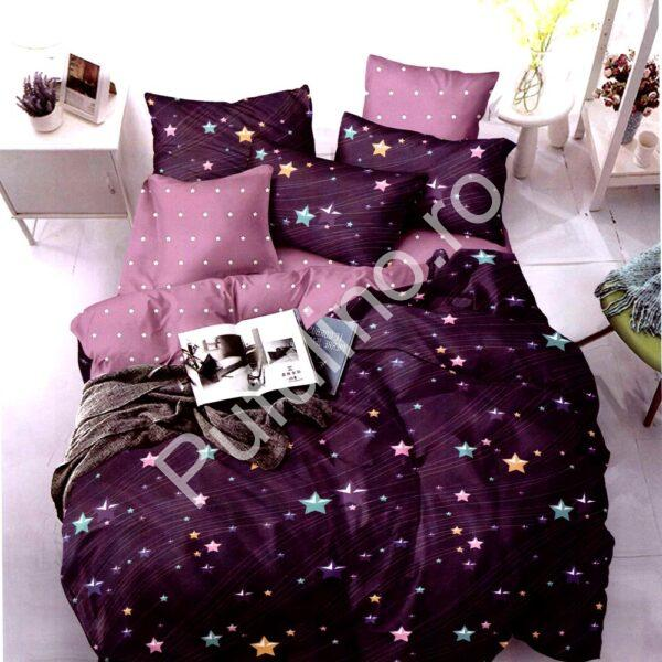 Lenjerie violet cu stelute finet gros PUF7205