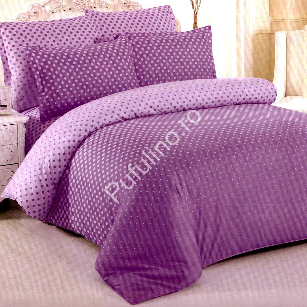 Lenjerie violet bumbac satinat PUF7071