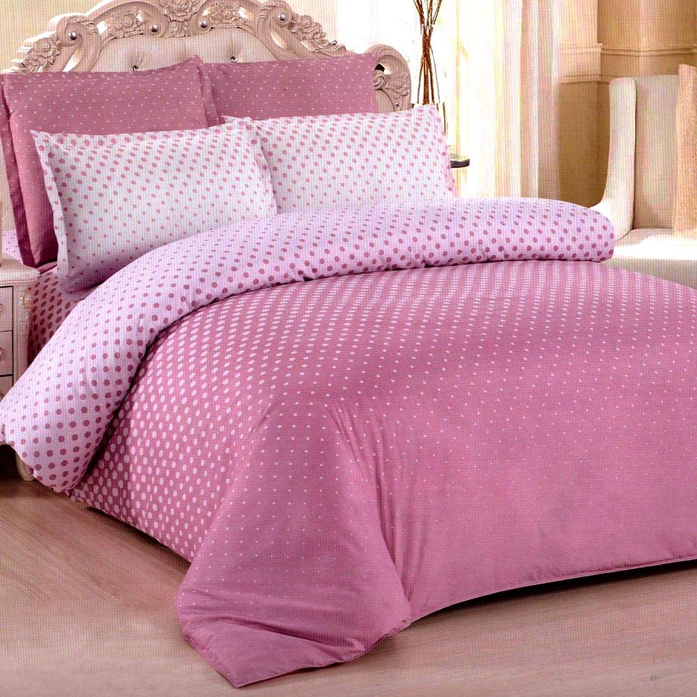 Lenjerie roz bumbac satinat PUF7132