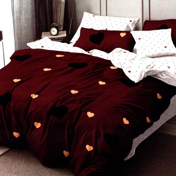 Lenjerie grena cu inimioare finet gros Home Style PUF7190