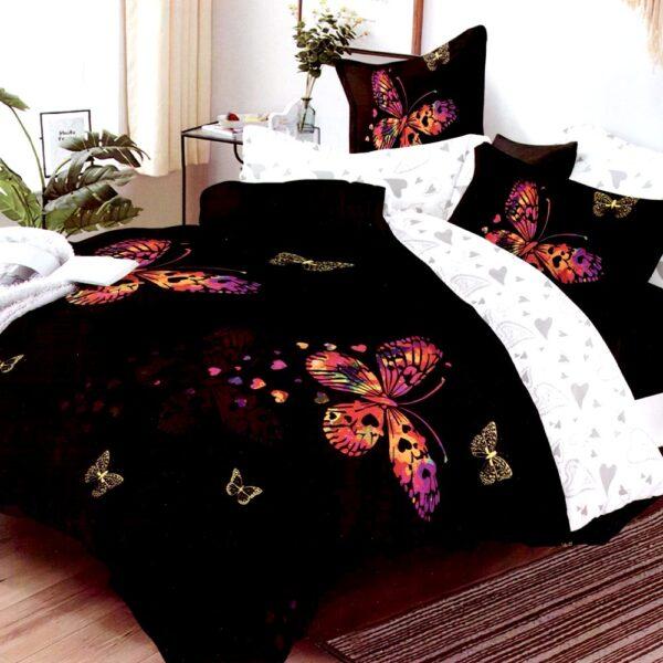 Lenjerie neagra cu fluturi Super Elegant Pucioasa PUF7658