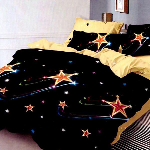Lenjerie neagra cu stelute Super Elegant Pucioasa PUF7661