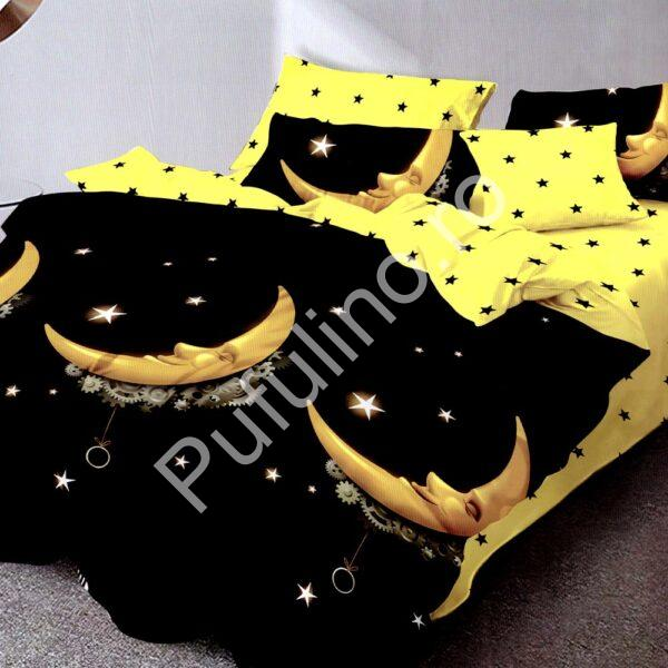 Lenjerie neagra cu galben finet gros Super Elegant Pucioasa PUF7681