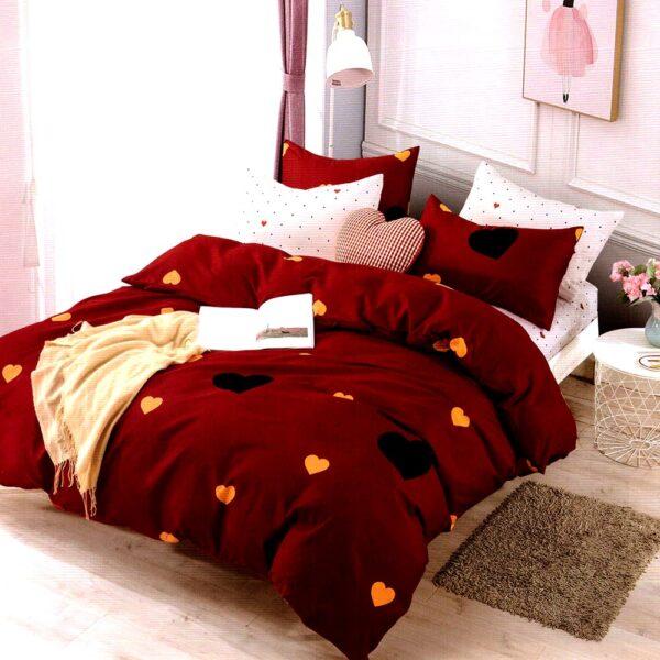 Lenjerie rosie cu inimioare PUF8172