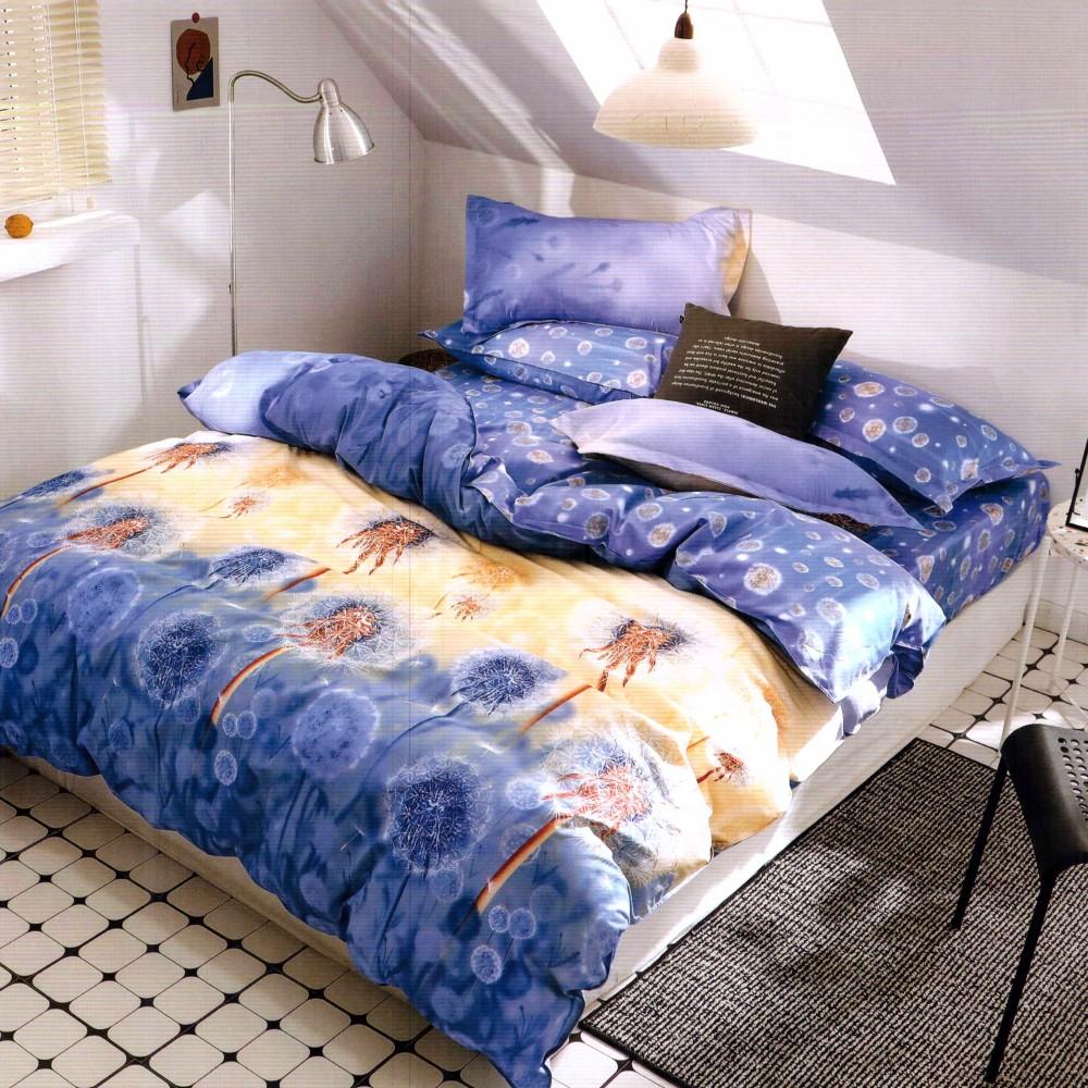 lenjerie de pat finet albastra