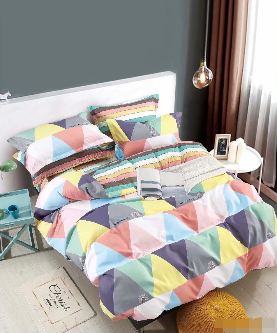 lenjerie cu forme grometrice multicolora
