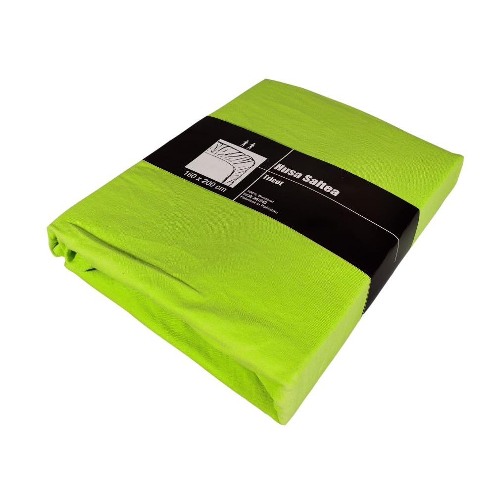 husa de pat cu elastic verde deschis