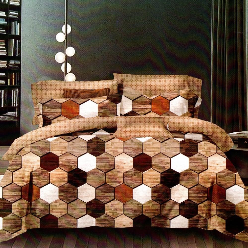lenjerie maro hexagon