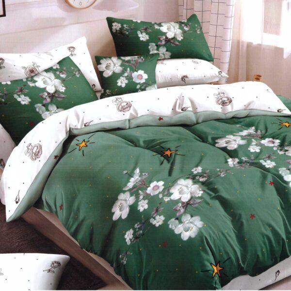 lenjerie pucioasa verde cu flori