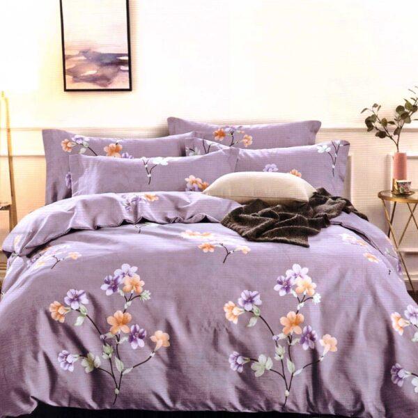 lenjerie violet cu flori