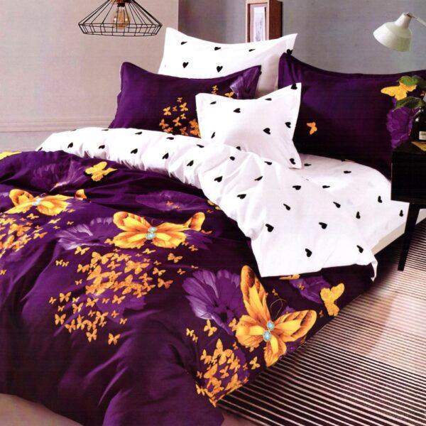 lenjerie violet cu fluturi