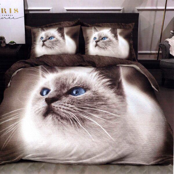 Lenjerie de pat din Finet Gros, Cearceaf cu elastic, 6 Piese, Pat 2 Persoane - Super Elegant Pucioasa - PUF9565