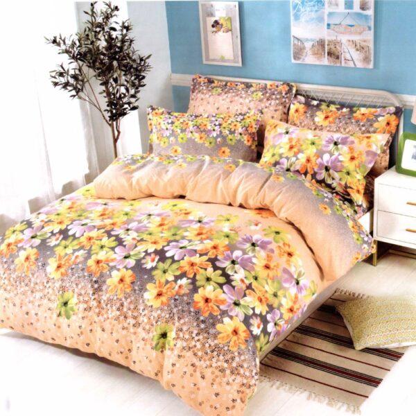 Lenjerie de pat din Finet Gros, Cearceaf cu elastic, 6 Piese, Pat 2 Persoane - Super Elegant Pucioasa - PUF9566