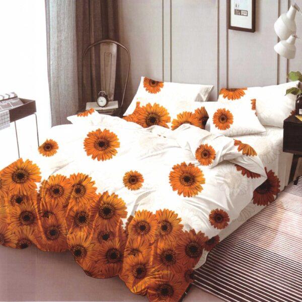 Lenjerie de pat din Finet Gros, Cearceaf cu elastic, 6 Piese, Pat 2 Persoane - Super Elegant Pucioasa - PUF9567