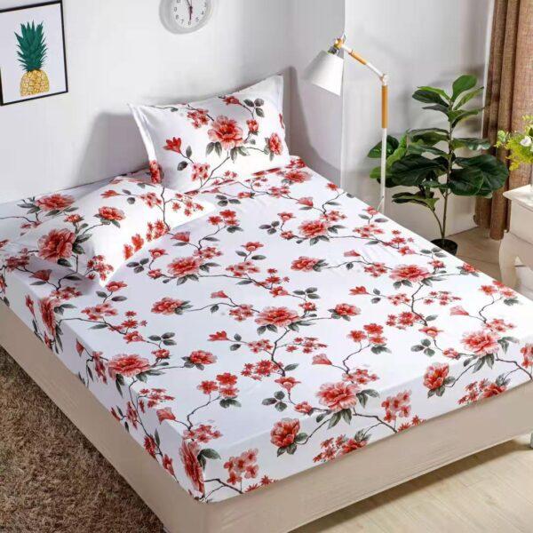 husa de pat cu trandafiri