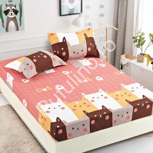 husa de pat pisicute