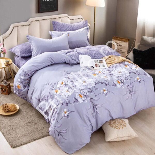 lenjerie cu elastic violet cu flori