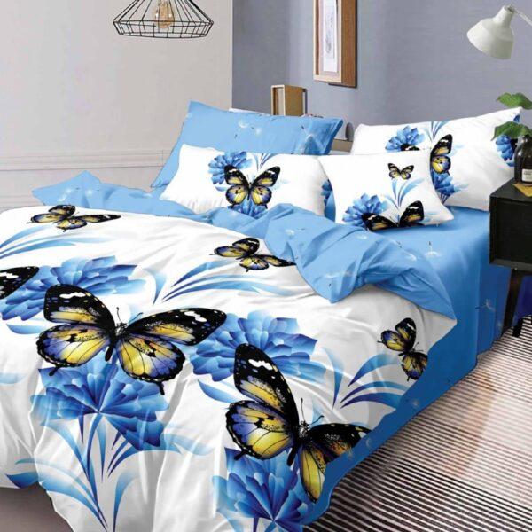 lenjerie cu fluturi albastri