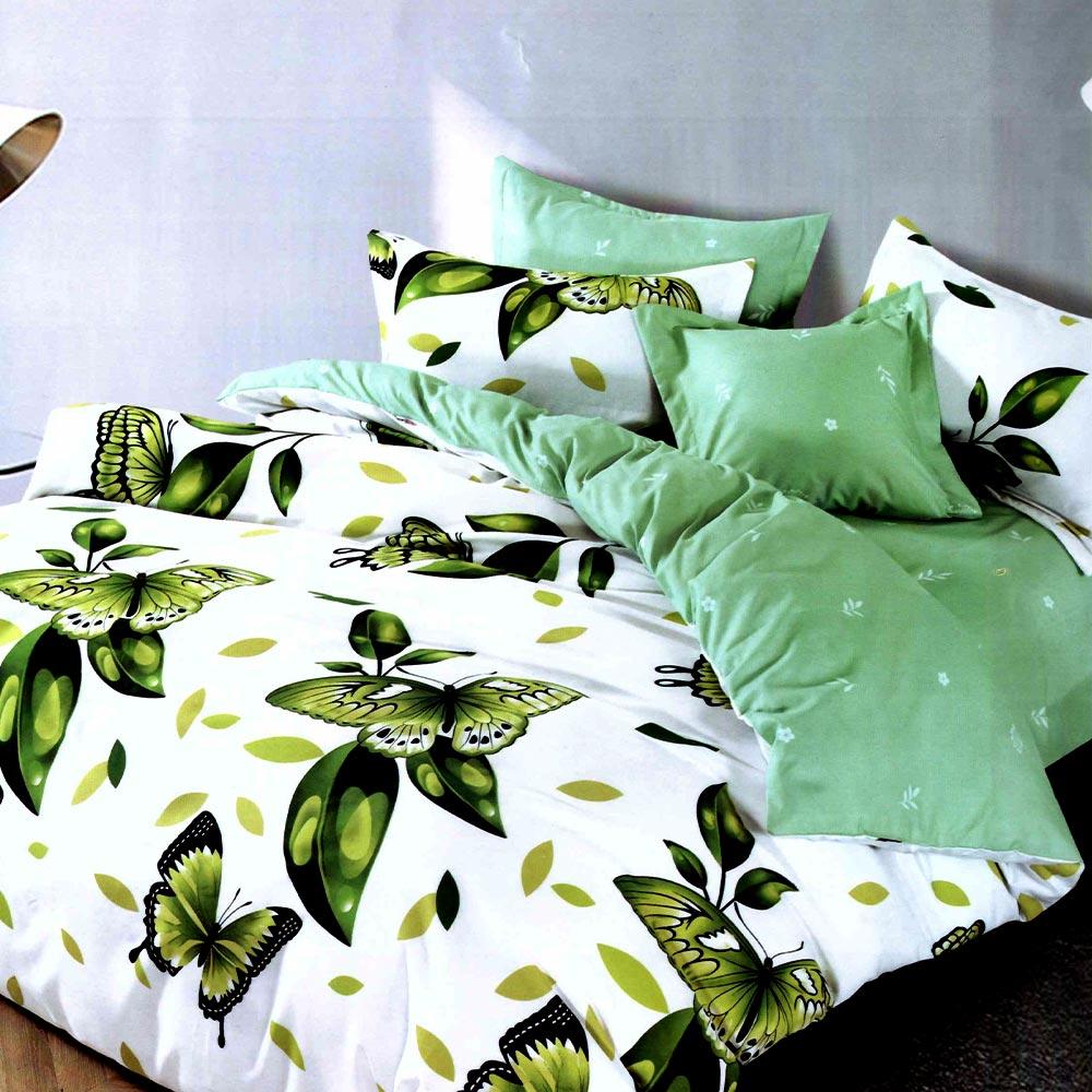 Lenjerie cu fluturi verzi