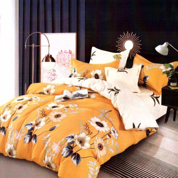 lenjerie galbena cu floarea soarelui