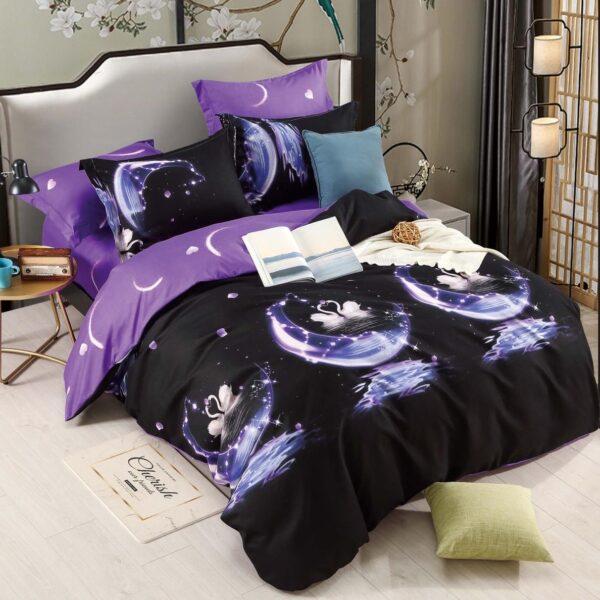 lenjerie violet fluturi