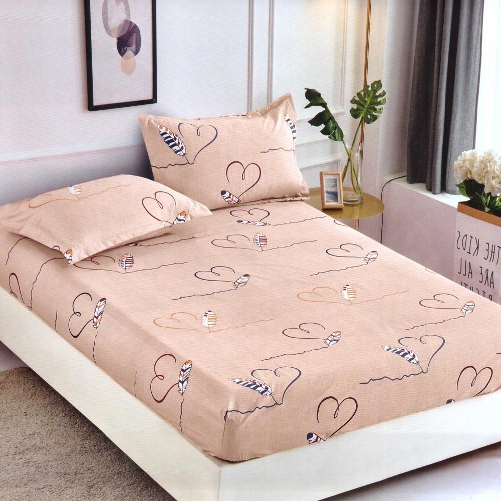 Husa de pat cu elastic din Bumbac Finet + 2 Fete de Perna, Jo Jo Design, Pat 2 Persoane - PUF9727