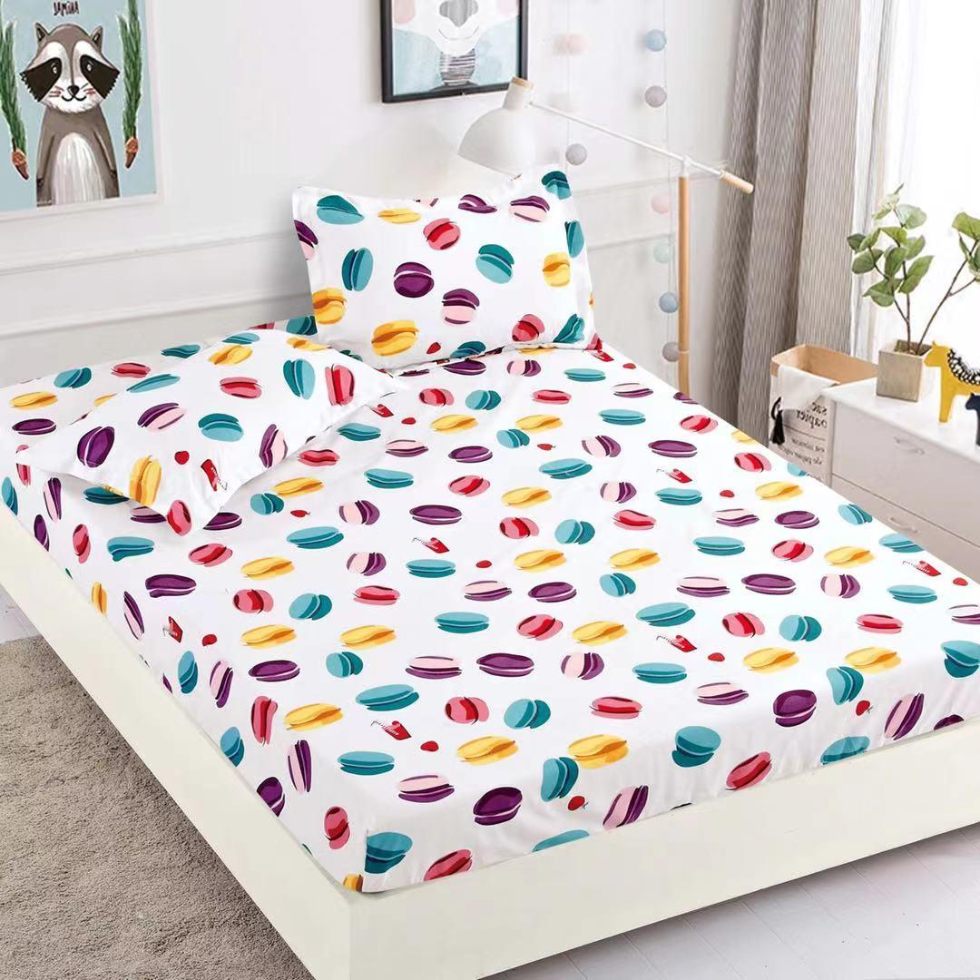 husa de pat cu elastic cu macarons