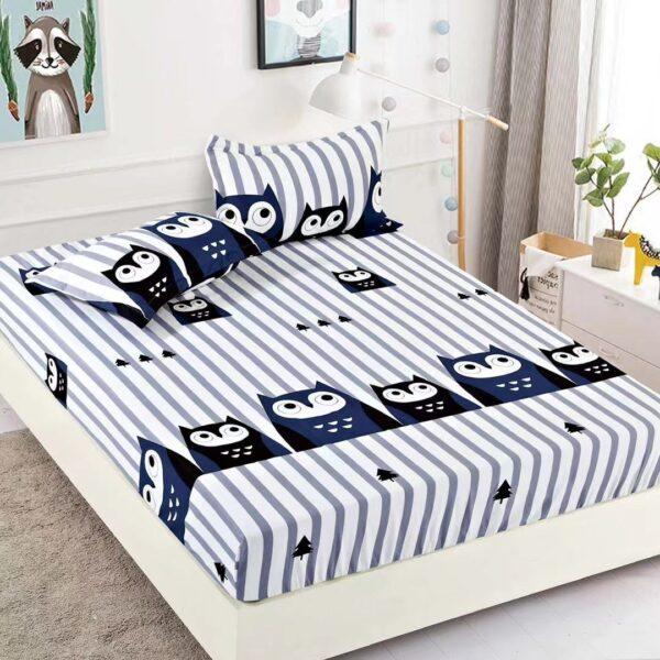 husa de pat model cu bufnite