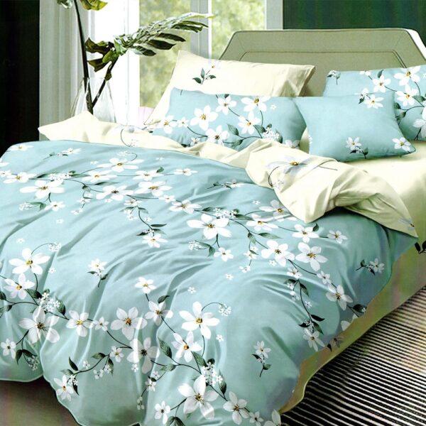 lenjerie bleu cu flori