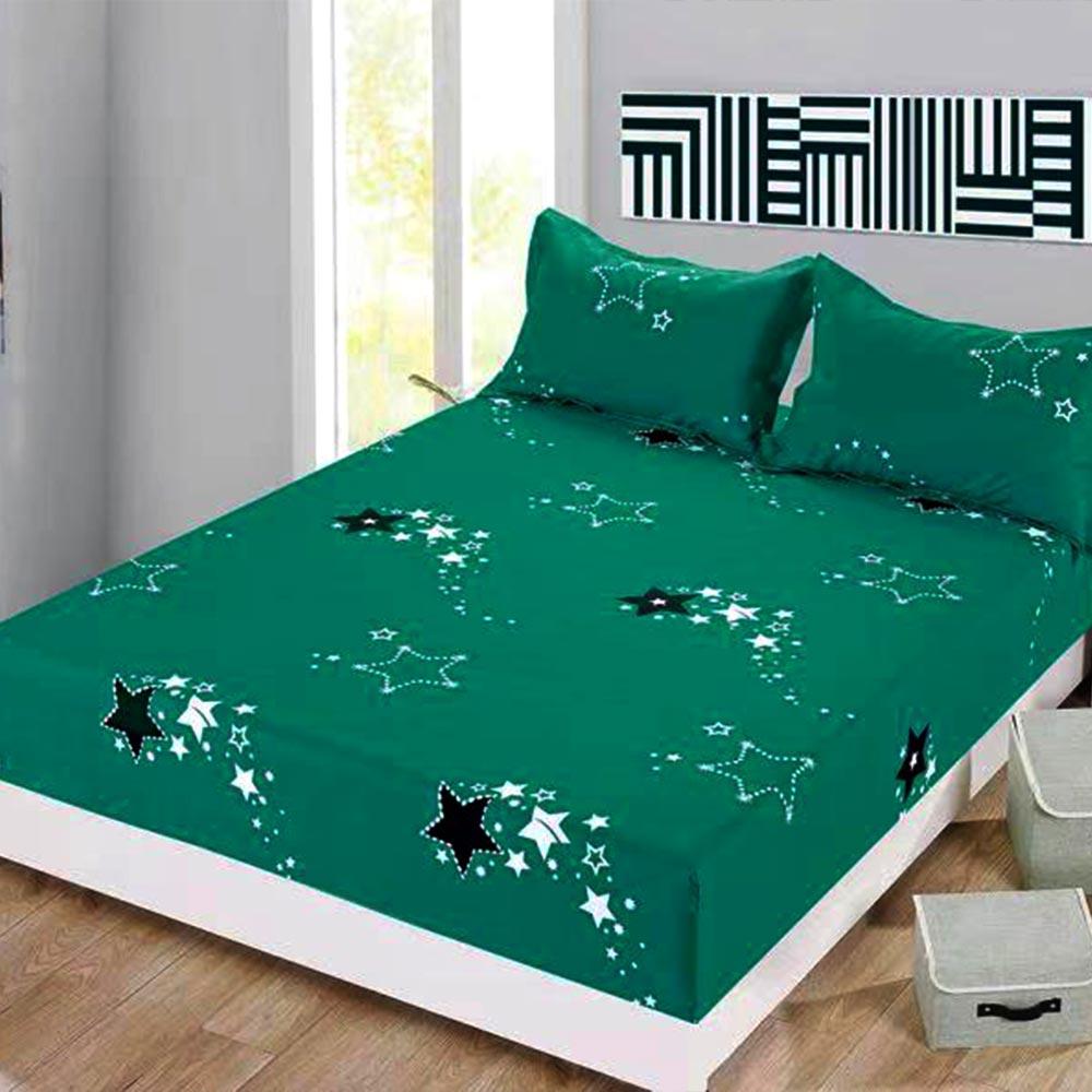 husa de pat cu elastic verde