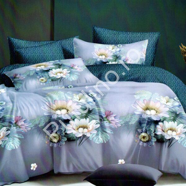 lenjerie cu flori albastra