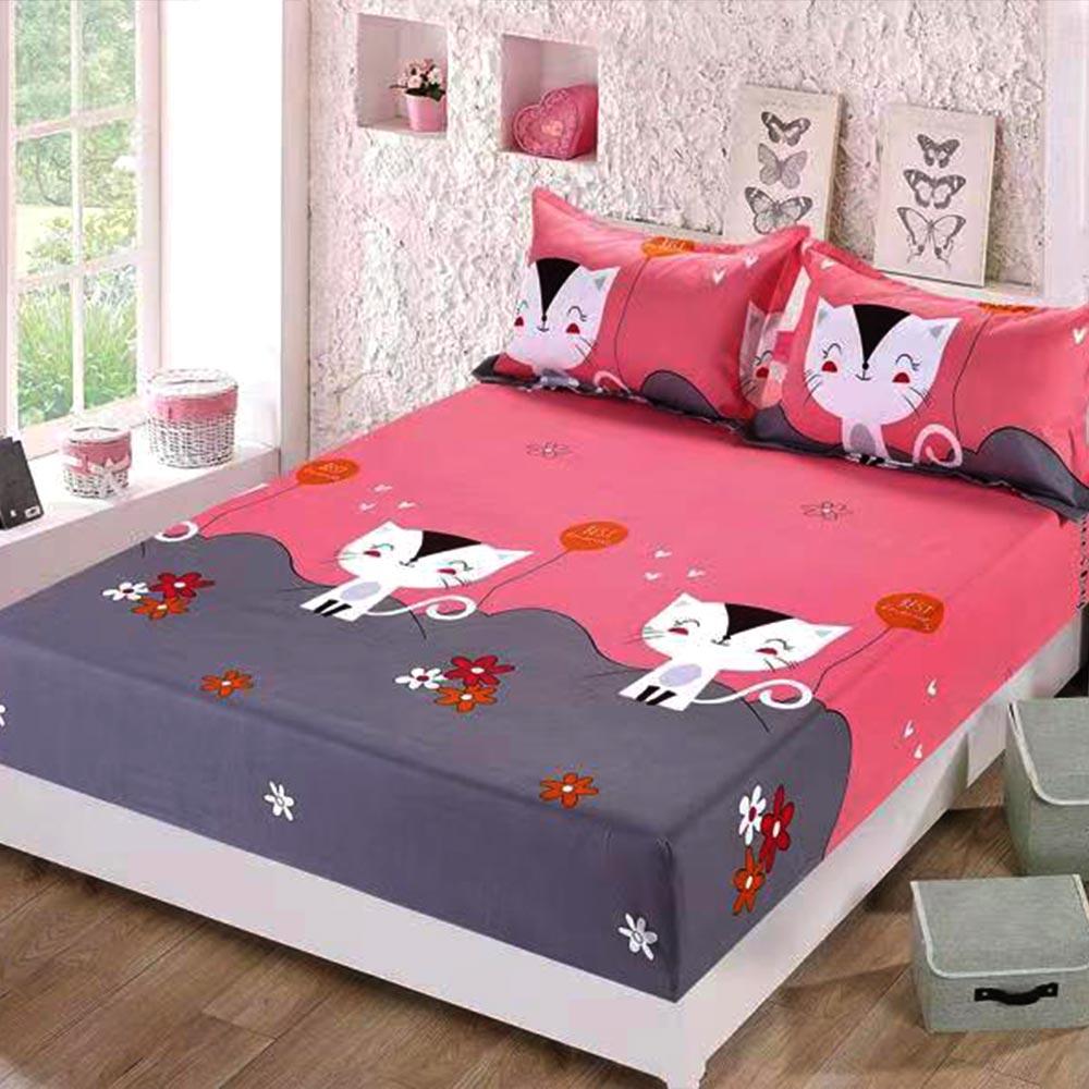 husa de pat cu elastic cu pisicute