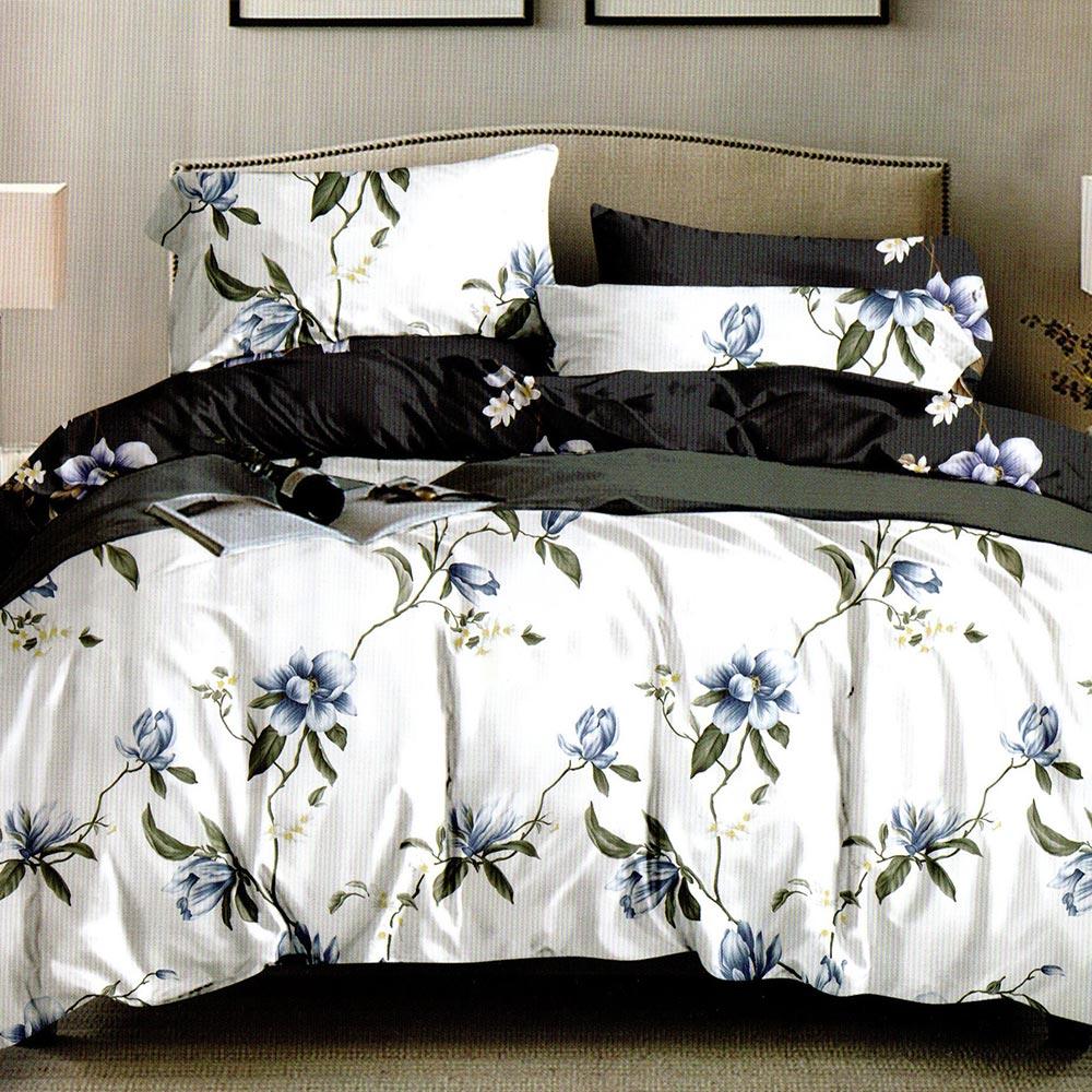 lenjerie alba cu flori