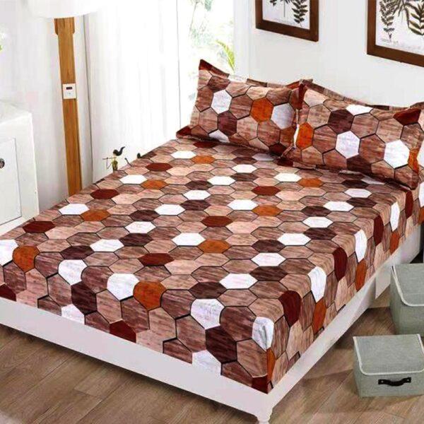 husa de pat cu elastic forme geometrice