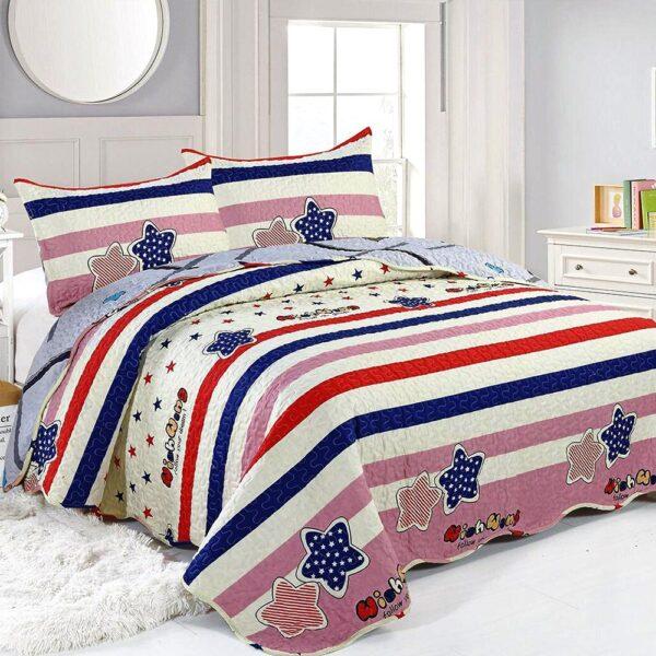 cuvertura de pat multicolora