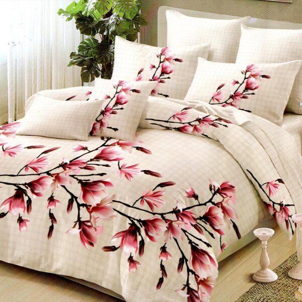 lenjerie crem cu flori de cires