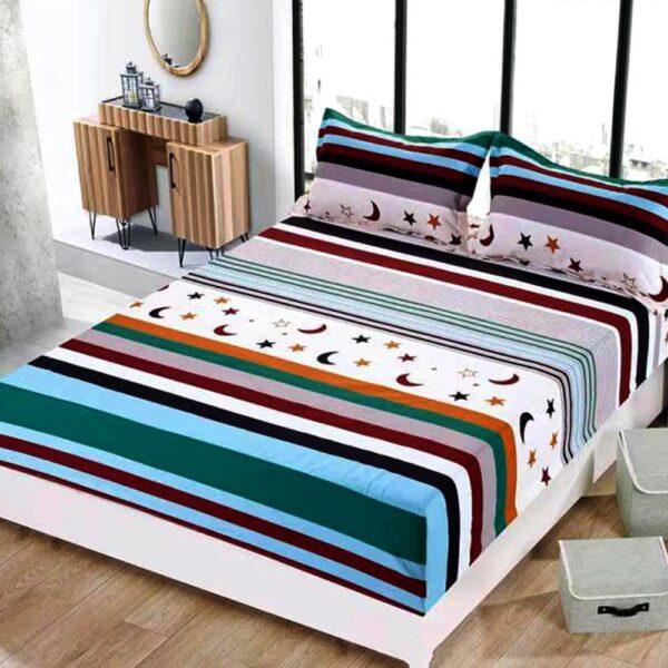 husa de pat cu elastic multicolora