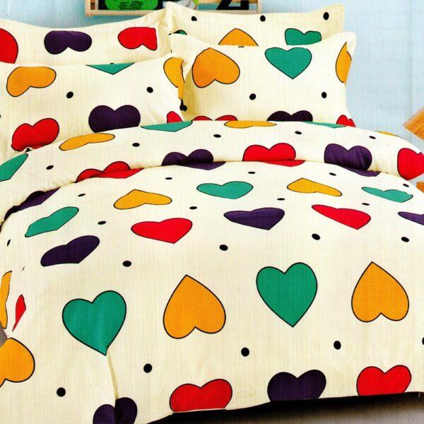 lenjerie cu inimi colorate