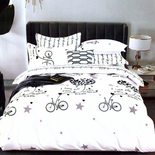 lenjerie de pat cu biciclete
